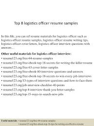 Warehouse Logistics Resume Sample Resume For Logistics Virtren Com