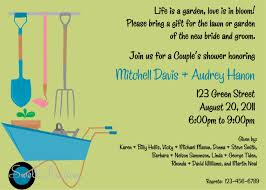 Couple Shower Invitations Lawn And Garden Shower Invitation Couple Shower Invitation