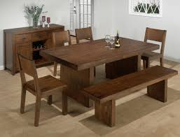 Wood Dining Room Chairs by Dining Room Furniture With Bench Dining Room Sets With Bench Bench