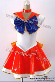 sailor moon venus cosplay costume pvc version cosplaysky com