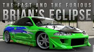 mitsubishi eclipse fast and furious forza 5 fast furious car build brian s eclipse youtube