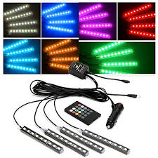 Color Interior Lights For Cars Jojoo 4pcs 4 7 Inch Dc 12v Multi Color Remote Control Car Led