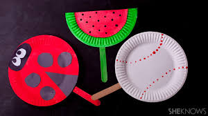 cool paper crafts cool craft transform paper plates into colorful fans