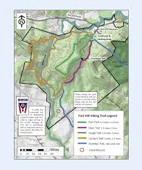 Green Circle Trail Map Fort Hill Map Arc Of Appalachia