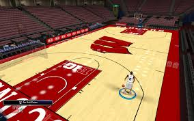 wisconsin basketball court milliken area rugs ncaa college home