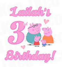 peppa pig birthday peppa pig iron on birthday shirt transfer birthday luvibeekidsco