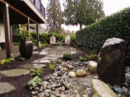 cozy small backyard landscaping ideas low maintenance incredible garden with black sand pathway as well as tropical