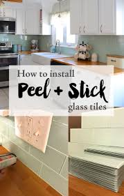 How To Install A Glass Tile Backsplash In The Kitchen Installing Peel And Stick Glass Tiles U2014 Weekend Craft