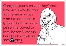 Congrats On Your Divorce Card Congratulations On Your Boyfriend Leaving His Wife For You Your