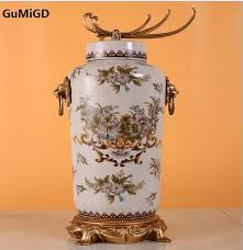 european ceramic vase luxury decoration craft ornaments home