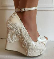 wedding shoes wedges 45 best lace wedding shoes images on lace shoes