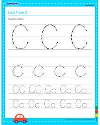let u0027s trace c u2013 alphabet worksheets online free u2013 jumpstart