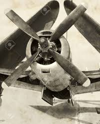 aged photograph of historic wwii aircraft with folded wings stock aged photograph of historic wwii aircraft with folded wings stock photo 1828069