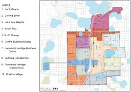 Map Of Orlando by Parramore Community Clearly Divided By Mls Stadium In New City Map