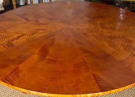 Maple Table Top by Round Tiger Maple Table At 1stdibs