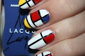 diy nail art ysl mondrian dress inspired manicure photo huffpost