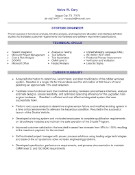 professional summary resume examples for software developer senior systems engineer resume sample resume for your job computer systems engineer sample resume real estate cover letter