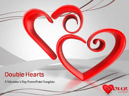 heart design for powerpoint double hearts a powerpoint template from presentermedia com