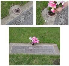 Flat Grave Markers With Vase Vase Hole Plug
