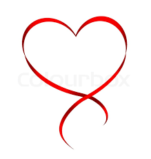 heart ribbon heart from ribbon isolated on white background stock photo