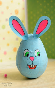 paper mache easter eggs wobbling papier mache bunny easter crafts for kids easy peasy
