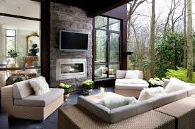 inspired napoleon fireplace in deck transitional with outdoor