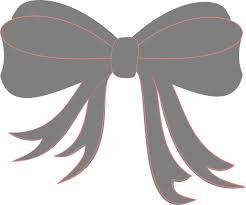 gray ribbon gray ribbon bow clip at clker vector clip online
