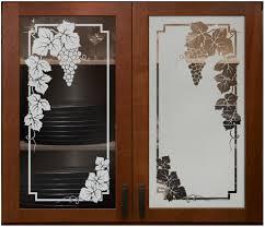 Cabinet Door Glass Insert Outstanding Kitchen Glass Door Designs Images Ideas House Design