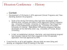 houston conference guidelines and postdoctoral residency training