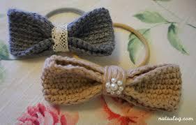 crochet hair bows crochet cafe hair bow natsulog