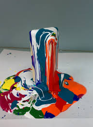 build a small sculpture wood boxes and drip paint a la pollock