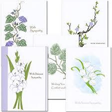 sympathy card sympathy card assortment 2 each of 5 designs box of