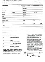 wedding planner contracts wedding planner contract template