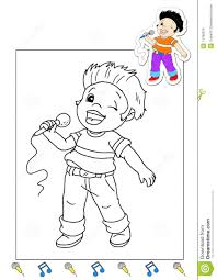 coloring book of the works 5 singer royalty free stock images