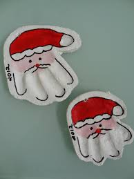 craft salt dough santa handprints there was a crooked