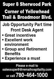 part time front desk jobs near me null job posting in edmonton