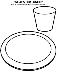 healthy plate coloring page what do you like to eat and drink for lunch use crayola crayons
