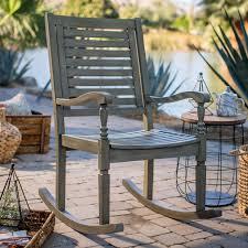 Gray Rocking Chair Belham Living Cottonwood Indoor Outdoor Wood Rocking Chair Gray