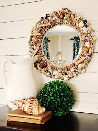 mirror frame decorating ideas how to make a seashell mirror hgtv