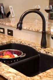 kohler rubbed bronze kitchen faucet best 25 black kitchen faucets ideas on black sink