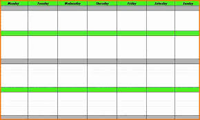 3 week schedule template expense report