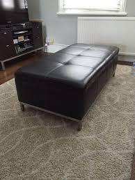 Large Leather Ottoman Large Leather Ottoman Bonners Furniture