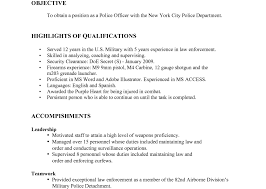 Law Enforcement Objective For Resume Delivery Responsibilities Resume Confidence Essays Free Best
