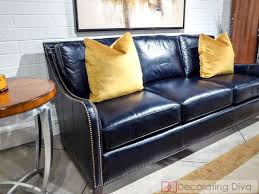 leather sofa with nailheads 25 best blue leather sofa ideas on pinterest blue leather couch