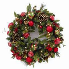 traditional wreath search prelit wreaths