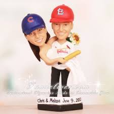 baseball wedding cake toppers cubs and cardinals baseball wedding cake toppers