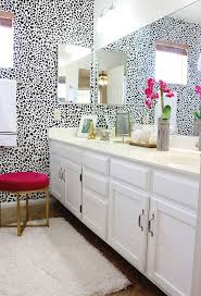 147 best bathroom decor ideas images on pinterest bathroom ideas black and white bathroom makeover love the dalmatian print and pops of pink