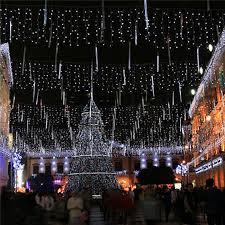 cheap us stock meteor shower rain led light tubes christmas