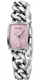 watches with chain bracelet images Women 39 s calvin klein ck amaze chain bracelet watch k5d2s12e gif