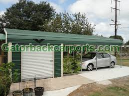 Garage With Carport Gatorback Carports